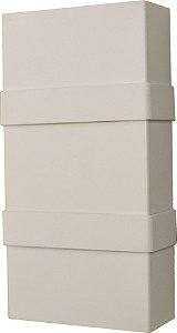Arandela de Alumínio - 20x10x4cm - Branca