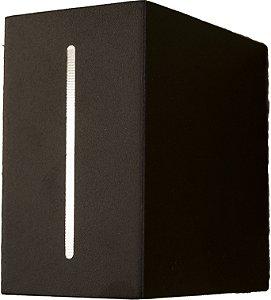 Arandela de Alumínio - 12x12x7cm - Preta