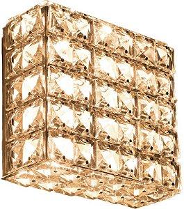 Arandela de Cristal - 15x15x7cm - Inox