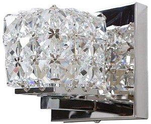 Arandela de Cristal - 12x12x12cm - Inox