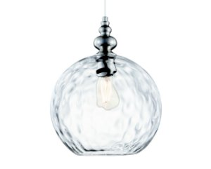 Pendente Metal Niquel/Vidro Transparente 1XBulbo MART 5747