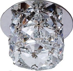 Luminária de embutir de cristal 9x4cm EM-