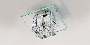 Plafon Dagda com Cristal Translúcido 18cm Stella SD7500