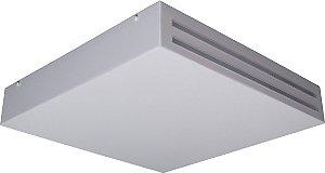 Plafon de Acrilico Quadrado Branco Detalhe Acrílico 20x20x8CM D&D PL-17