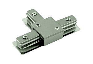 Conector em T Satin Silver para Trilho Eletrificado Sobrepor Satin Silver Stella SD1045ST