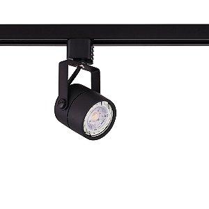 Spot Dicróica Preto para Trilho Eletrificado Preto Stella SD1050PTO