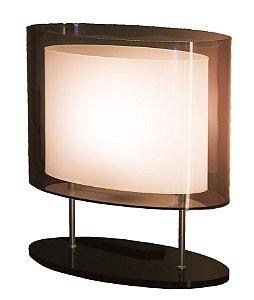 Abajur de Acrílico Elipse 36x20x26cm D&D AB-237