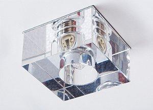 Semi Embutido de Cristal Transparente 5x7x7cm D&D EM-8102-1