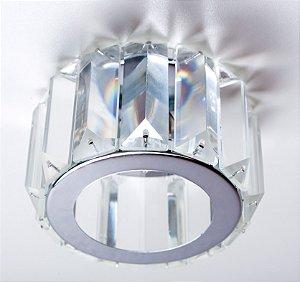 Semi Embutido de Cristal Transparente 10x8cm D&D EM-8116