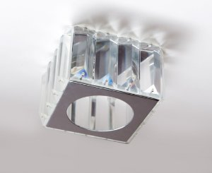 Semi Embutido de Cristal Transparente 10x10x8cm D&D EM-8117