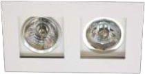 Spot de Embutir Recuado Branco Duplo Mini Dicroica MR11 D&D EM-232