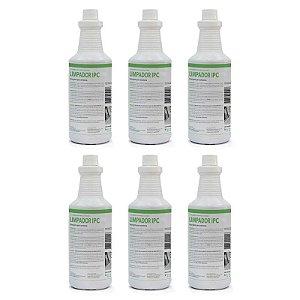 KIT LIMPADOR IPC - Detergente para extratoras - 6 unidades de 1 litro (antigo Limpador Soteco)