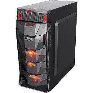 Gabinete Gamer Taurus USB 3.0 Preto LED Vermelho Sem fonte