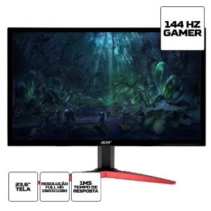 Monitor LED Acer Gamer de 23.6 Full HD Kg241q  2xhdmi