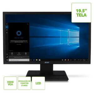 Monitor Acer 19,5 LED V206hql  Hdmi