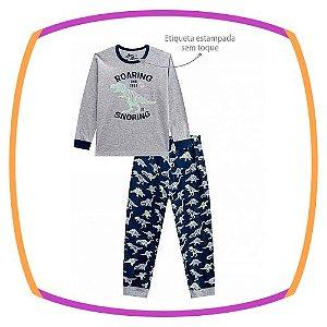 Pijama infantil com estampa de dinossauro