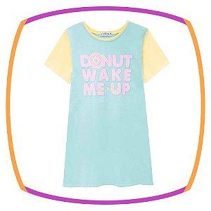 Camisola Infantil em malha, estampa DONNUTS e máscara*