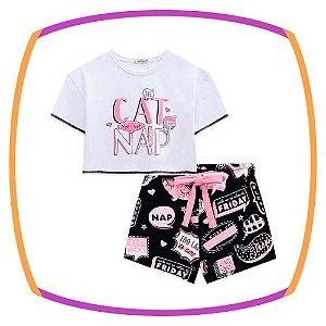 Pijama infantil em malha CAT SNAP