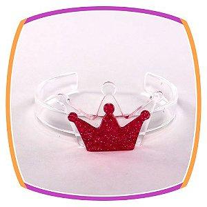 Bracelete Coroa em acrílico