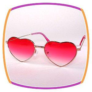 Óculos de coração - lente rosa