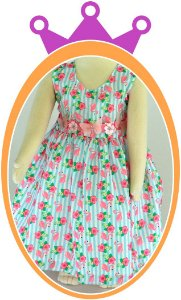 Vestido infantil Estampa Flamingos