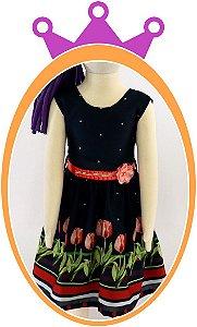 Vestido infantil Tulipas