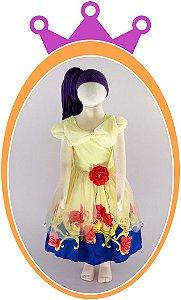 Vestido infantil Estampa A Bela e a Fera