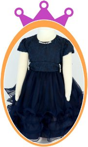 Vestido infantil Saia em Babado com Renda