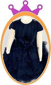 Vestido infantil com Saia em Camadas e Tule