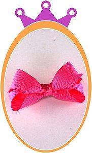 Bico de Pato Laço Gorgurão Purpurinado - Cor: Rosa Fluorescente - PAR