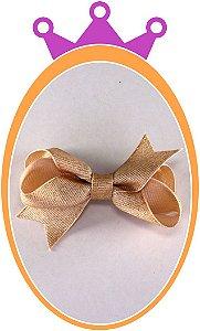 Bico de Pato Laço Gorgurão Purpurinado - Cor: Dourado - PAR