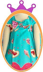 Vestido infantil Estampa de Doces