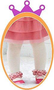 Meia Calça Bebê Fio 40 - Cor: Branca (BB)