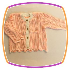 Cardigan infantil em tricot bebe  - pérola