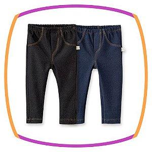 Calça em Cotton Jeans