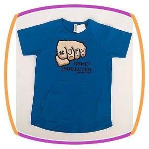 Camiseta infantil  Game Addicted Azul