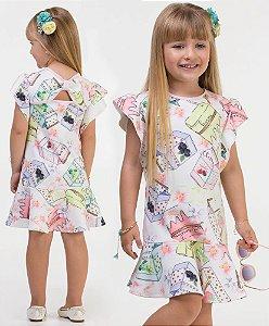Vestido infantil em Neoprene estampado