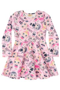 Vestido infantil ponto roma LOVE Surprise