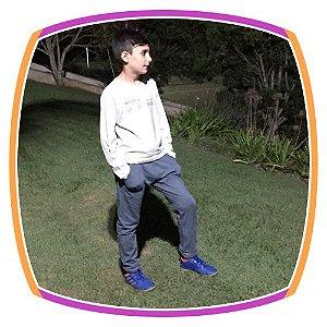 Conjunto infantil Calça Moleton com Bolso e camiseta frase MITOU