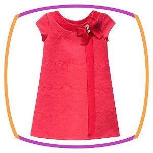 Vestido infantil em jacquard dublado