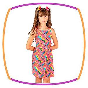Saída vestido infantil estampa Borboleta