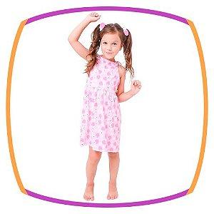 Saída vestido infantil estampa Porco Espinho