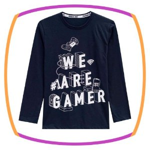Blusa infantil Manga Longa WE ARE GAMER