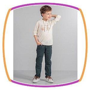Conjunto infantil infantil calça em sarja -  Lets Go