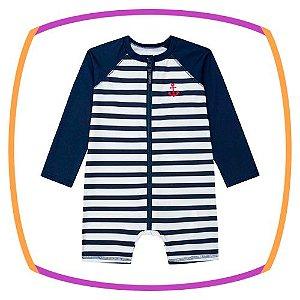 Macacão para piscina para bebê em malha UV dry com proteção UV 50+