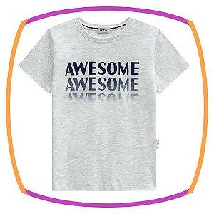 Camiseta Infantil AWASOME branca
