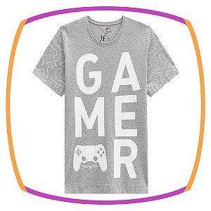 Camiseta infantil em meia malha GAMER
