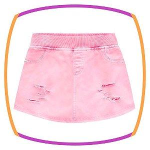 Shorts saia infantil em sarja