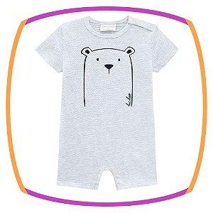 Macacão para bebê em meia malha estampa Urso