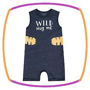 Macacão para bebê regata WILD HUG ME